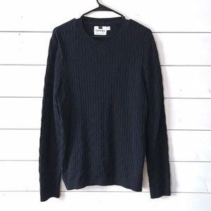 Topman Navy Blue Crewneck Pullover Sweater